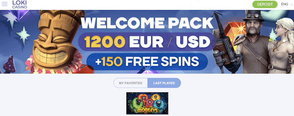 loki casino exclusive no deposit bonus