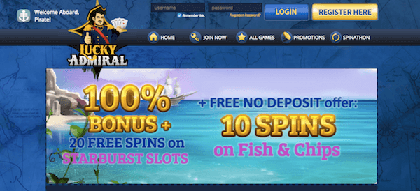 lucky admiral casino no deposit bonus codes