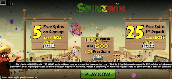 spinzwin casino no deposit free spins bonus
