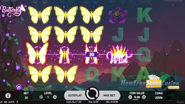 Butterfly Staxx free spins no deposit bonus