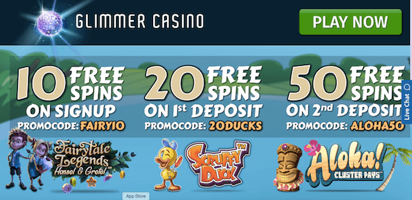 glimmer casino fairytale legends bonus codes