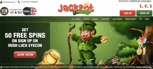 jackpot fruity casino no deposit bonus