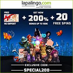 lapalingo casino no deposit bonus codes