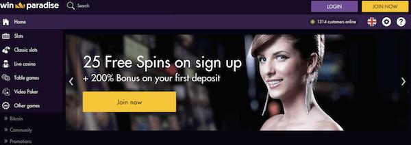 winparadise bitcoin casino no deposit