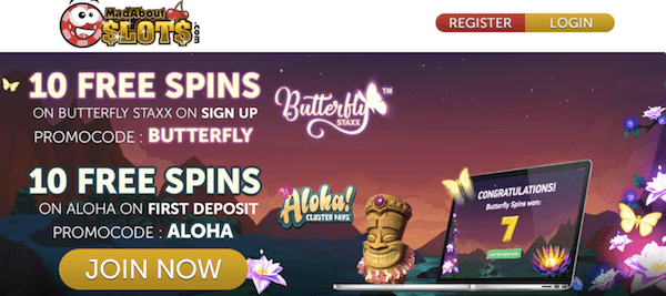 Mad About Slots Casino no deposit bonus