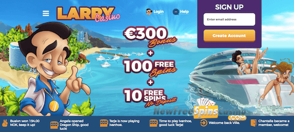 larry casino no deposit bonus exclusive