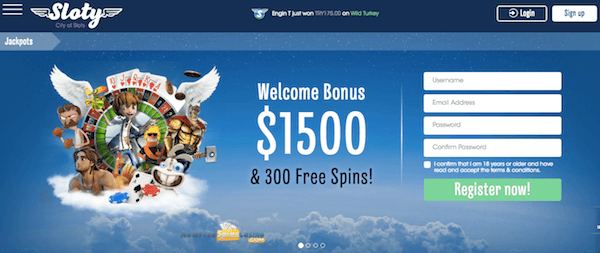 sloty casino no deposit bonus