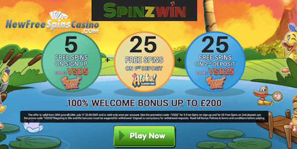 spinzwin casino no deposit bonus codes