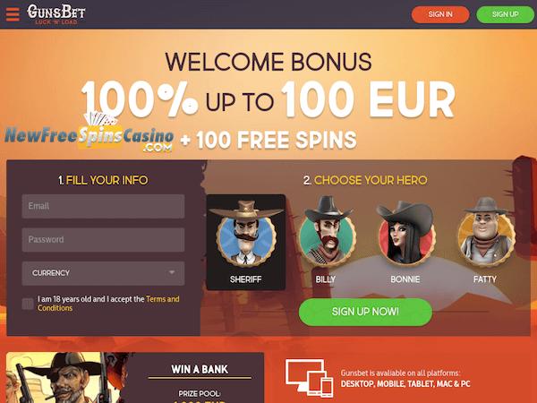 Gunsbet casino no deposit bonus