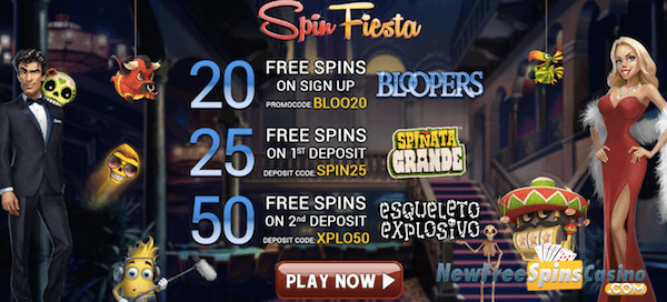 spin fiesta no deposit on bloopers