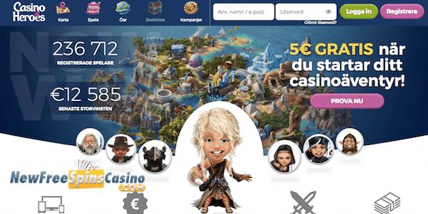 casino heroes no deposit bonus
