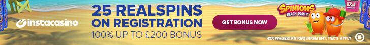 instacasino free spins no deposit