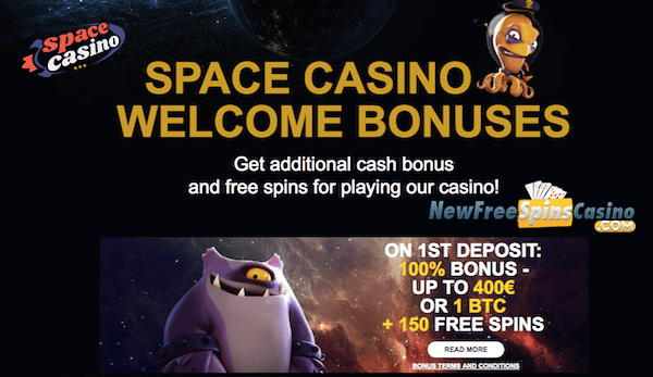 space casino no deposit bonus