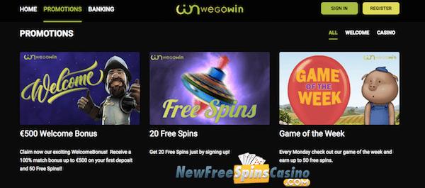 wegowin casino no deposit bonus
