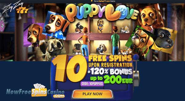 Zig Zag 777 Bitcoin Casino Free Spins No Deposit on Puppy Love