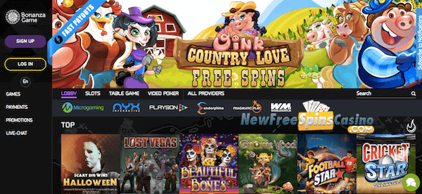 bonanza game casino exclusive no deposit bonus