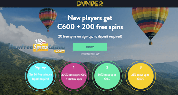 Aloha Cluster Pays Free Spins No Deposit on Dunder Casino