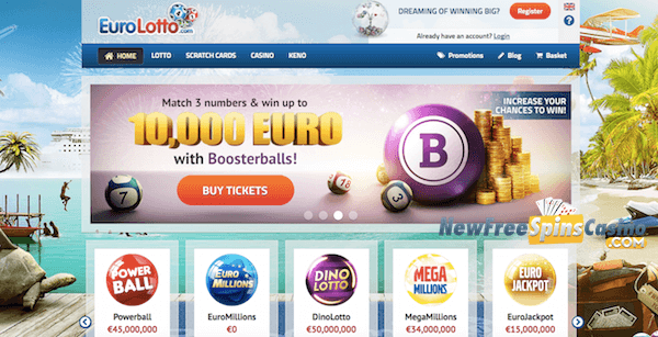 eurolotto casino no deposit bonus