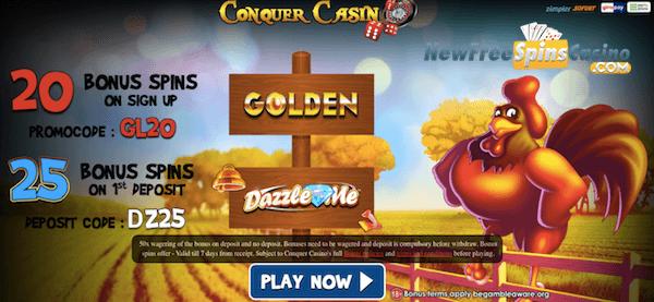 conquer casino no deposit bonus