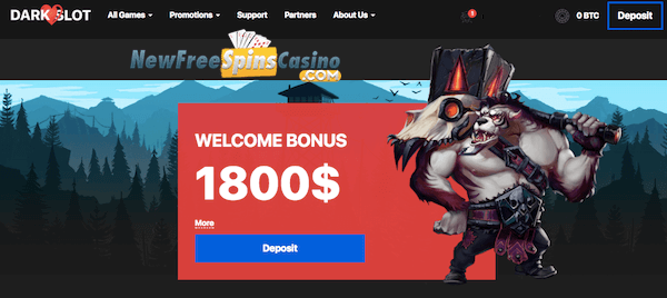 darkslot bitcoin casino no deposit