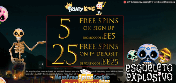 fruity king casino esqueleto explosivo no deposit bonus