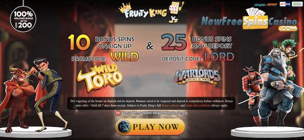 fruity king casino no deposit bonus