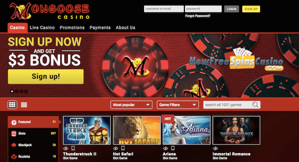 mongoose casino no deposit bonus
