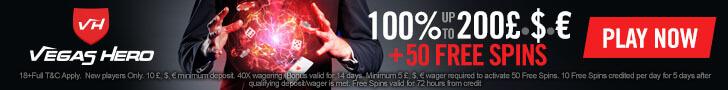 vegas hero casino free spins no deposit