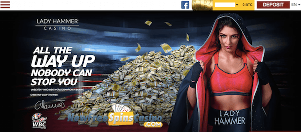 Slotomon Go Free Spins No Deposit on Lady Hammer Bitcoin Casino