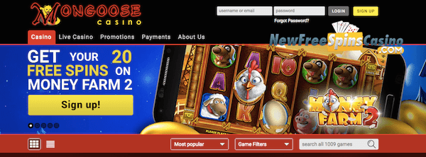 mongoose casino no deposit bitcoin bonus