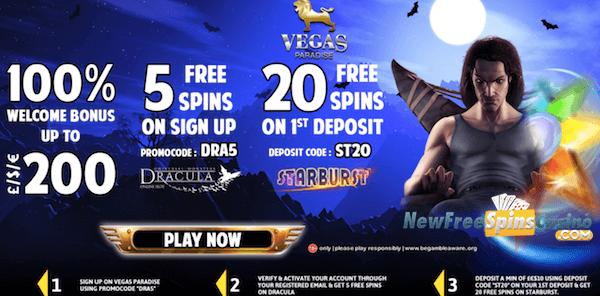 vegasparadise casino dracula no deposit bonus