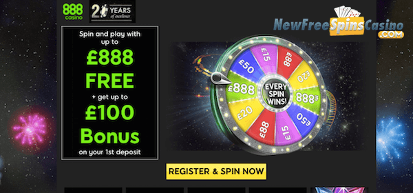 888 casino bonus spin