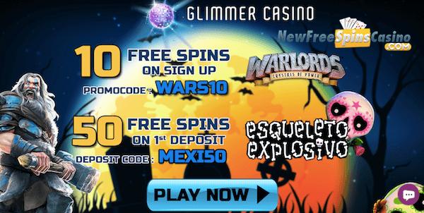 glimmer casino no deposit bonus