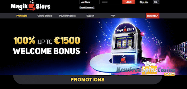 magik slots casino no deposit bonus