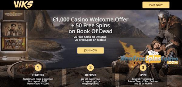 VIKS Casino no deposit bonus