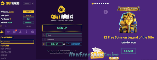 crazywinners casino no deposit