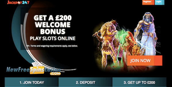 Jackpot247 Casino NO Deposit Bonus Codes of £10 Free Cash