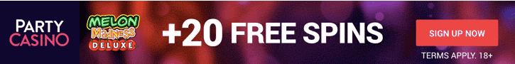 partycasino free spins no deposit