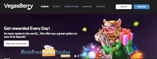 vegasberry casino no deposit bonus
