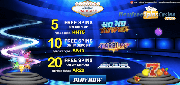 jackpot paradise casino ho ho tower no deposit bonus