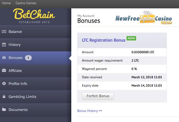 Bitcoin Casino Free Spins No Deposit Litecoin Mining Hardware Calculator