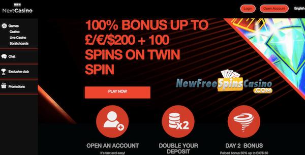nextcasino no deposit bonus