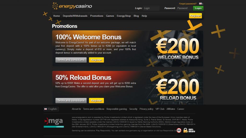 energy casino бонус код