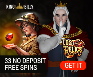 King Billy Casino 33 free spins no deposit