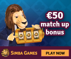 Simba Games Casino Welcome Bonus