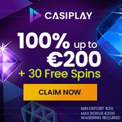 CasiPlay Casino Welcome Deposit Bonus