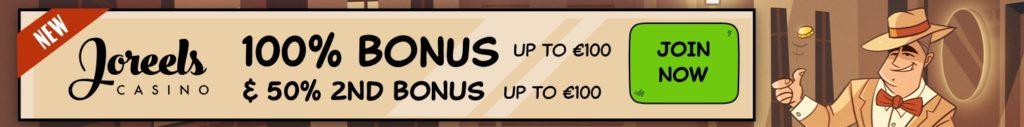 Joreels Casino Welcome Deposit Bonus