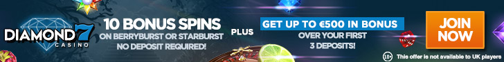 Diamond7 Casino 10 Bonus Spins No Deposit