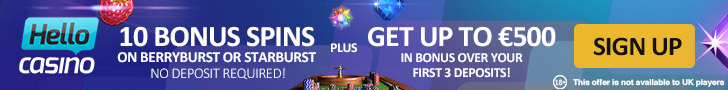 Hello Casino 10 Bonus Spins No Deposit