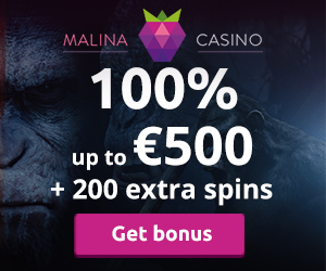 Malina Casino Welcome Deposit Bonus
